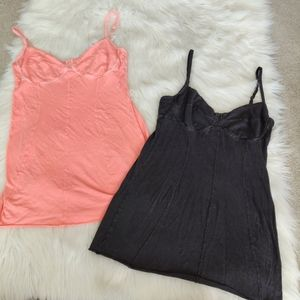Wilfred Bundle of Two tank tops coral & black M